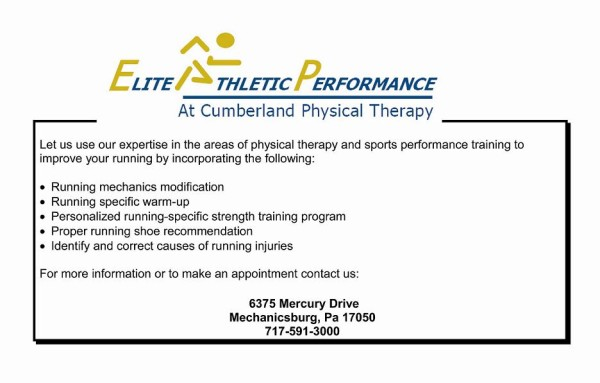 Elite Athletic Performance Sponsor for Harrisburg Area Road Runners Club